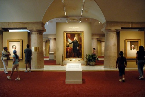 """A view of the entrance of the """"Portraits of the Presidents"""" gallery at the National Portrait Gallery"""