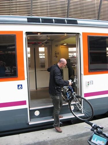 Subiendo la Bicicleta al Andalucia Express