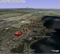 Santa is approaching Seattle