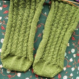 Cabletini Socks in Progress