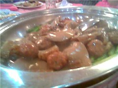 Sea cucumber meatballs