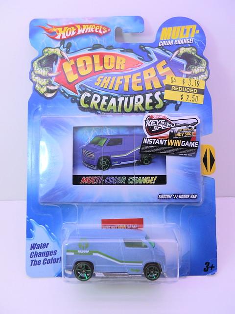 hot wheels color changers '77 custom dodge van (1)