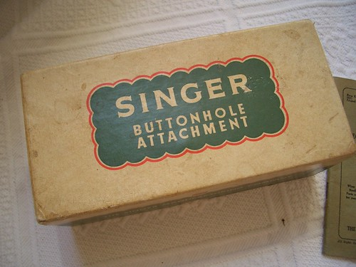 Singer Buttonhole Attachment