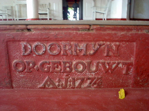 Dutch Inscription, Tangalle Resthouse Sri Lanka