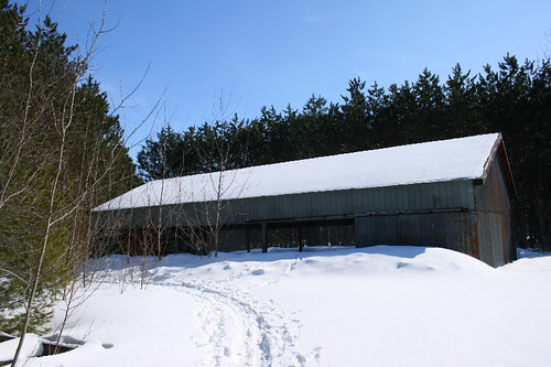 Old farm shelter
