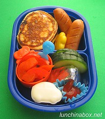 Mini pancake bento lunch for preschooler