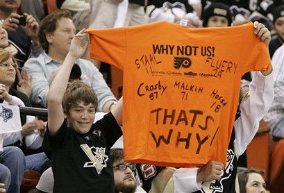 Young Penguins Fans Tell The Flyers How It Is
