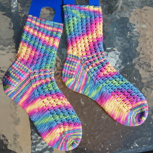 2357 Electric Kool-Aid Acid Socks