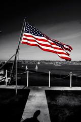 USS Reagan American Flag