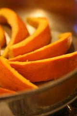 Pumpkin cut for searing