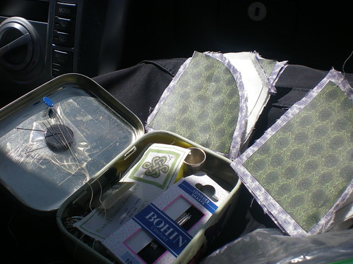 Sewing Setup in the car