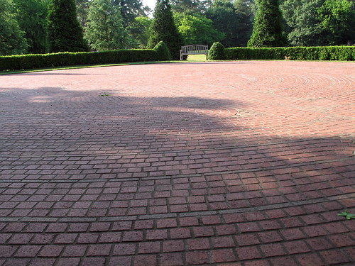 The Places I've Walked, brick labyrinth, Martinez, Georgia, June 2007, photo © 2007 by QuoinMonkey. All rights reserved