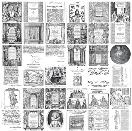 image thumbnails from English Literature Flickr set