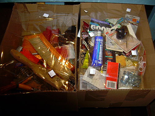 Box of bagged items