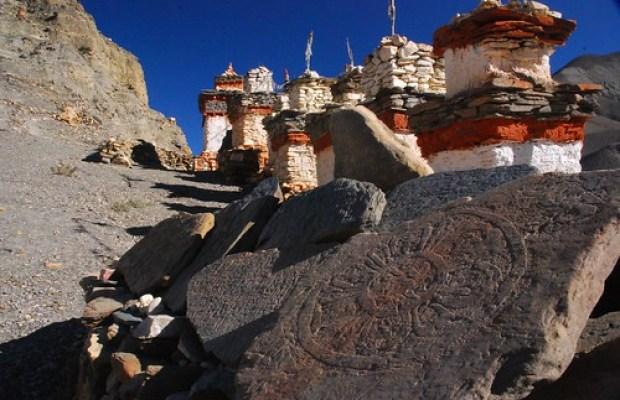Stupas in the morning light