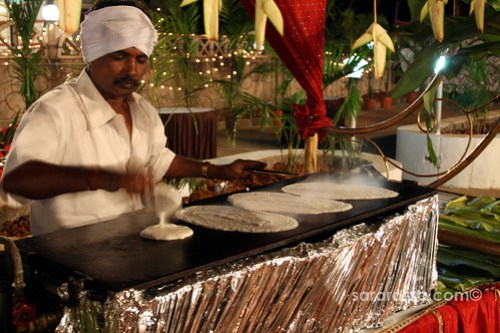 Making Dosas at a wedding in India