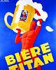 Vintage European Beer Poster by artcafe2008