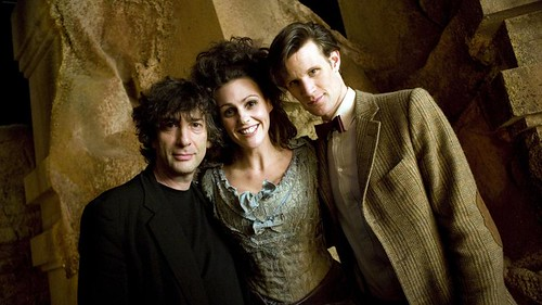 Neil Gaiman, Suranne Jones and Matt Smith