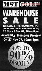 20071128 MST Golf Warehouse Sale