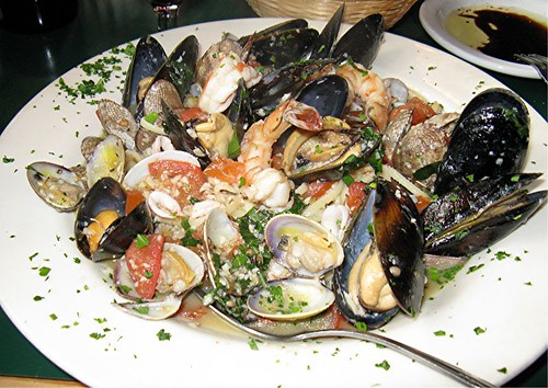 seafood linguine at Milano's