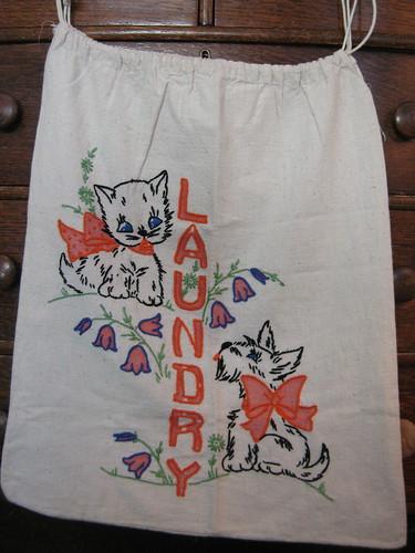 vintage laundry bag