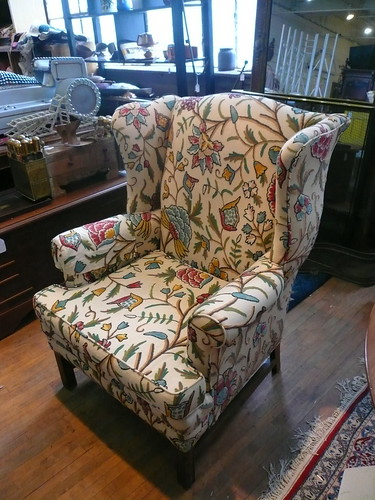 Crewel Fabric Chair