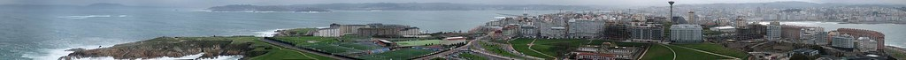 Panorama A Coru�a desde Torre de Hercules