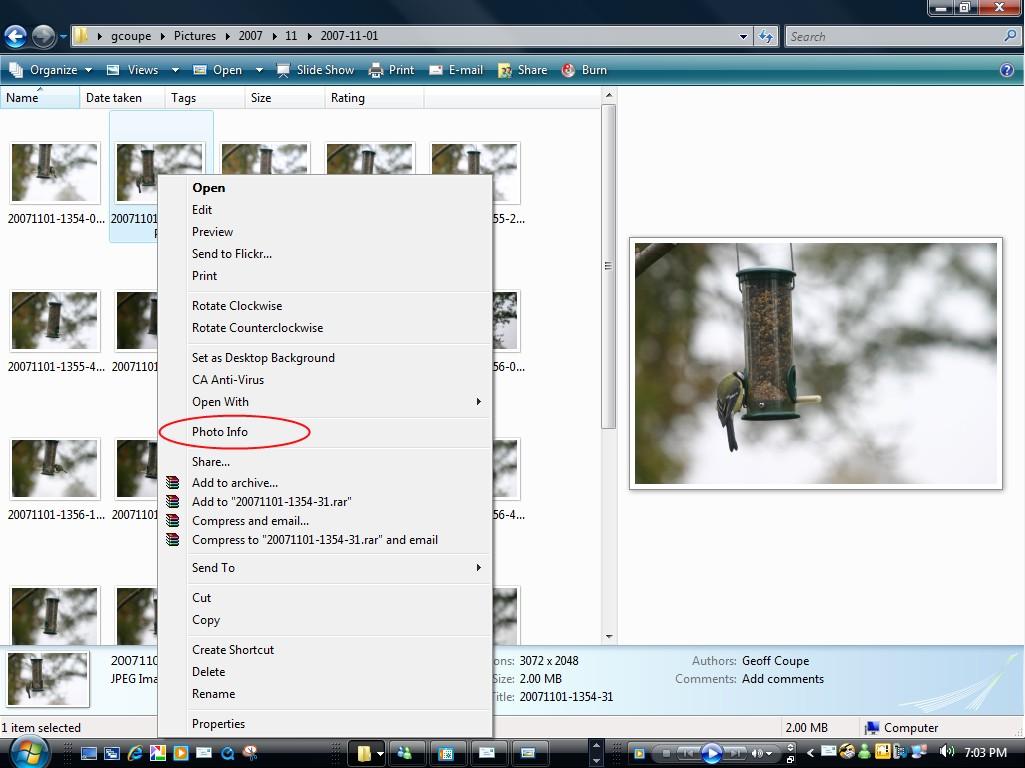 Photo Info test 1