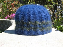 Hat_2003Oct_Blue_w_green_FeltedInSep2007