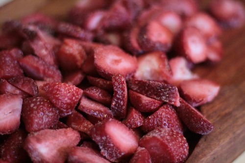 Chopped frozen strawberries