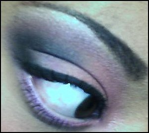 pink & purple eye look