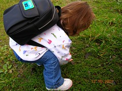 lola school back pack - how cute is that sweater!!