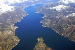 WONDERFUL AERIAL OF COMO LAKE
