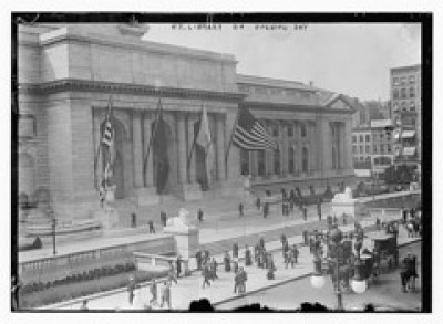 N.Y. Library on Opening Day (LOC)