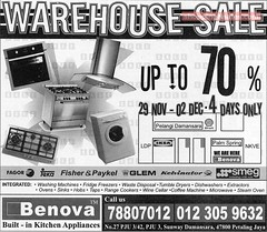 20071129 Benova Warehouse Sale