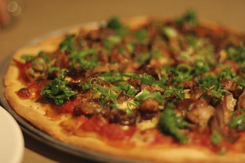 Duck and Shitake Mushroom Pizza