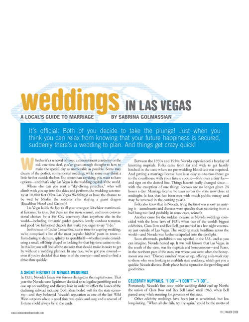 Wedding Feature / Vegas Weddings 2