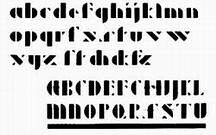 Josef Albers, 1926-27. Proyecto para el alfabeto de plantilla.