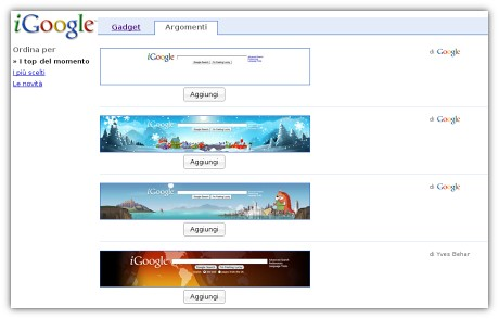 iGoogle theme directory