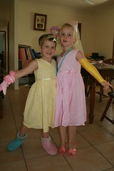 (My nieces) Lily and Annie, off to the ball