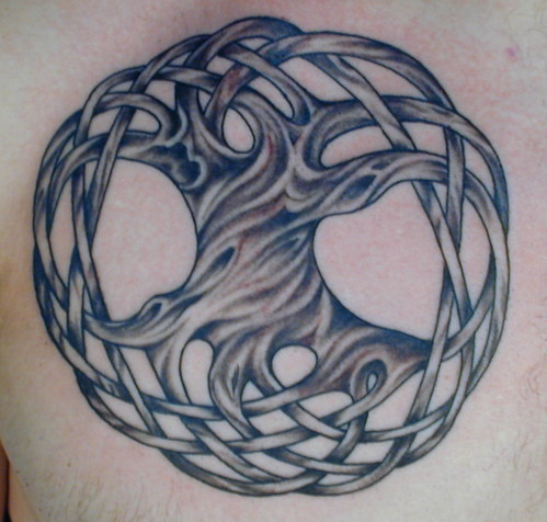 Celtic tree of life tattoo by Tres Denk