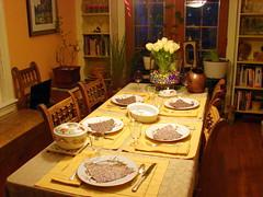 mcginnis dinner table