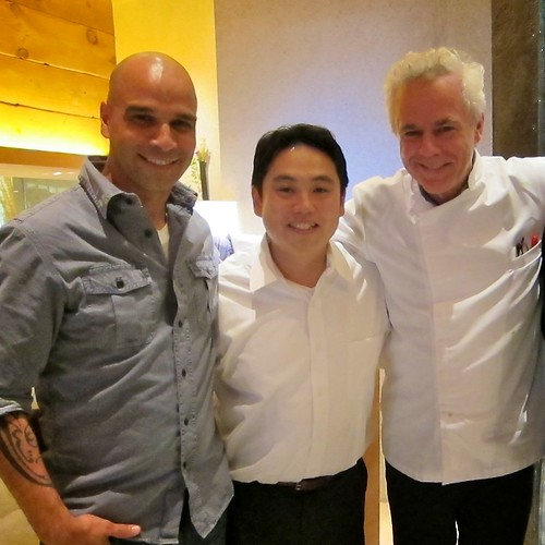 Chef Mourad Lahlou (Aziza SF), Chef Isao Yamada, and Chef David Bouley (brushstroke NY) by bloompy