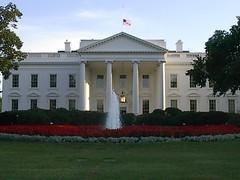 white house flag at half mast