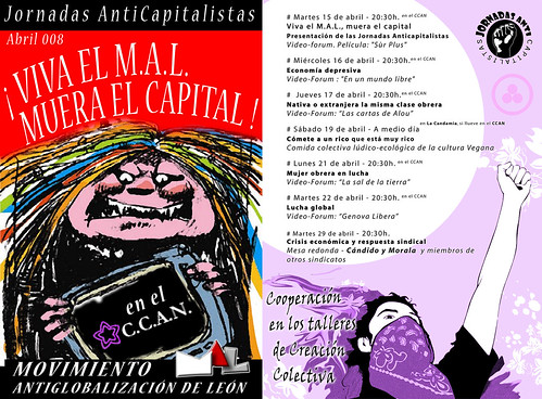 Jornadas anticapitalistas en leon 2008