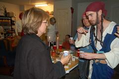 J teaching my mom how to do a jello shot
