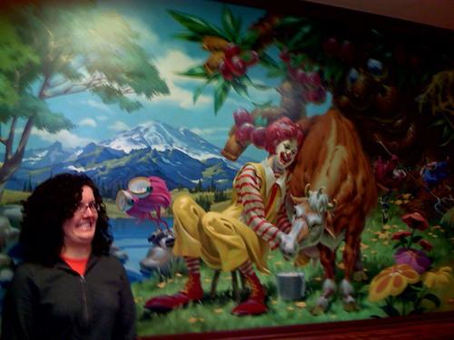 Freaky McD's mural in Centralia