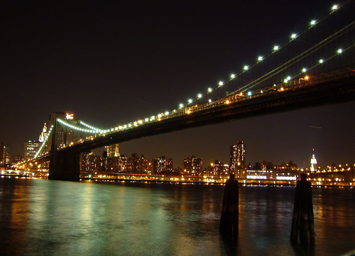 nocturno sobre el puente de brooklyn