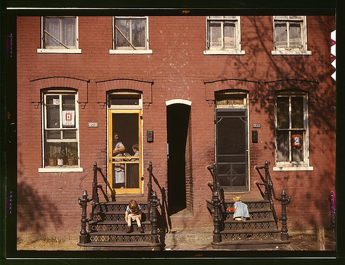 [Children on row house steps, Washington, D.C.] (LOC) by The Library of Congress.