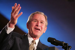 Bush_podium